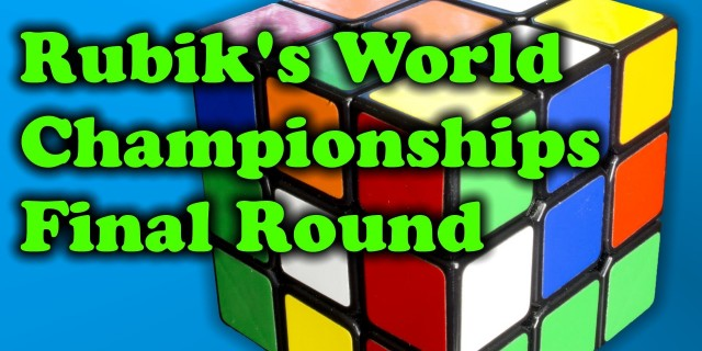 Rubik's World Championships Final Round – 2013