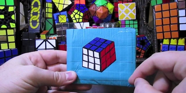 Rubik's Cube Duct Tape Wallet