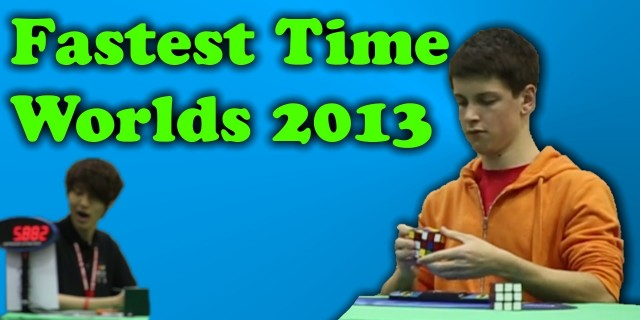 Fastest Solve of Rubik's World Champs 2013 – Feliks Zemdegs