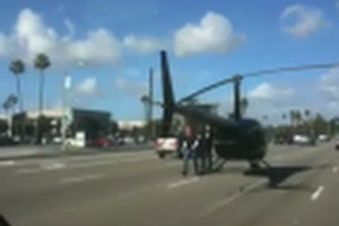 Helicopter landing fail!