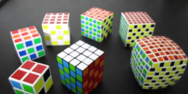 Checkerboard Rubik's Cube Pattern 2×2 through 7×7