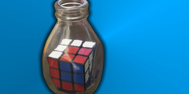 Impossible Rubik's Cube in a Bottle