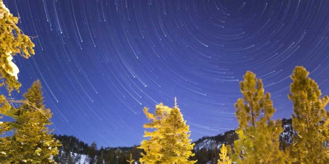 Star Trails in Tahoe