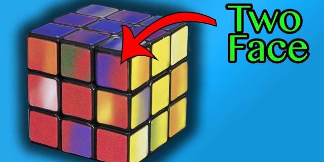 World's Hardest Rubik's Cube to Solve – Two Face Cube